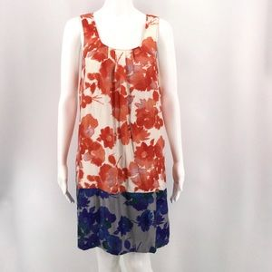 MADEWELL Eliot Dress 6 Silk Washable Floral Shift